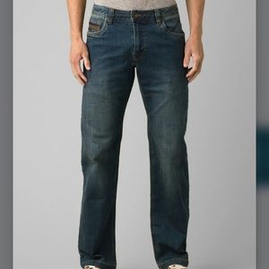 Prana Men's Axiom Leather Trim Jeans